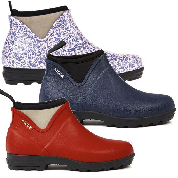 Aigle Landfor Woman Rubber Ankle Boots