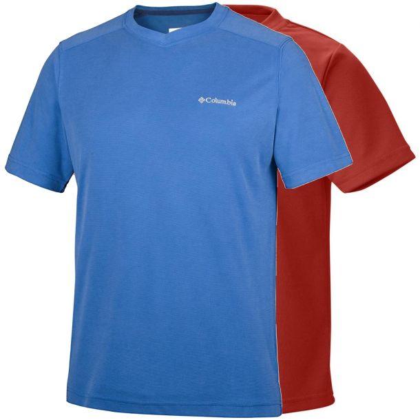 Columbia Men's Sun Ridge Novelty Short Sleeve V-neck