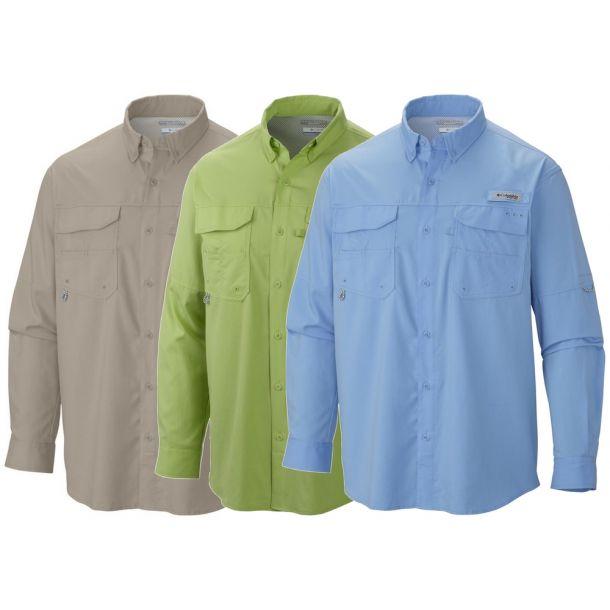 Columbia Men's Blod and Guts III Long Sleeve Woven Shirt PFG