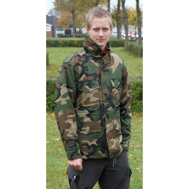 M65 Feltjakke i Woodland Camouflage, Foret