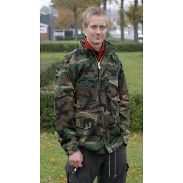 M65 Feltjakke i Woodland Camouflage