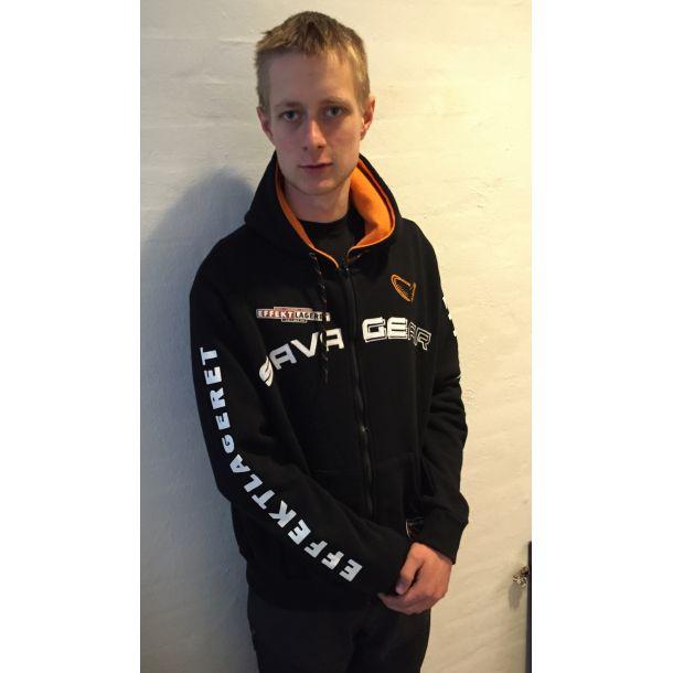 Savage Gear hættetrøje med Effektlageret's logo